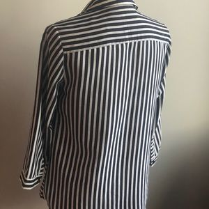 The Limited Tops - The Limited strip button down shirt